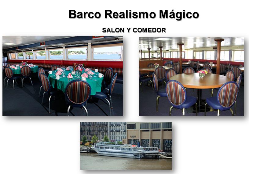 barco crucero realismo magico restaurante