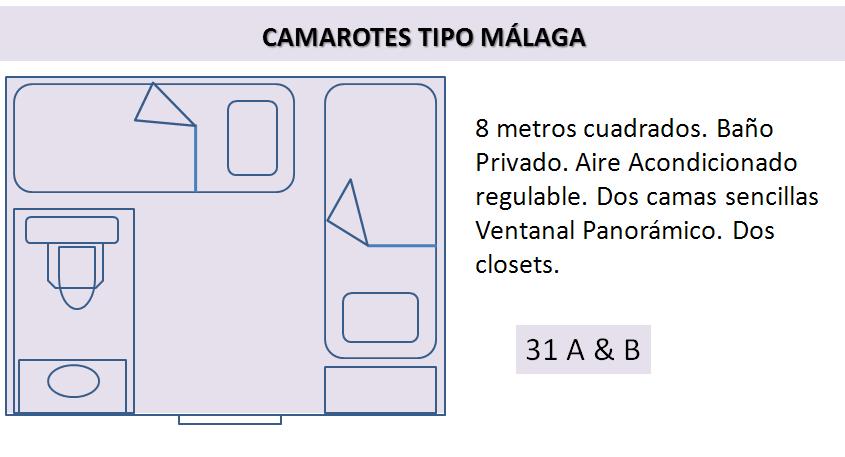 cabinas tipo malaga crucero colombia
