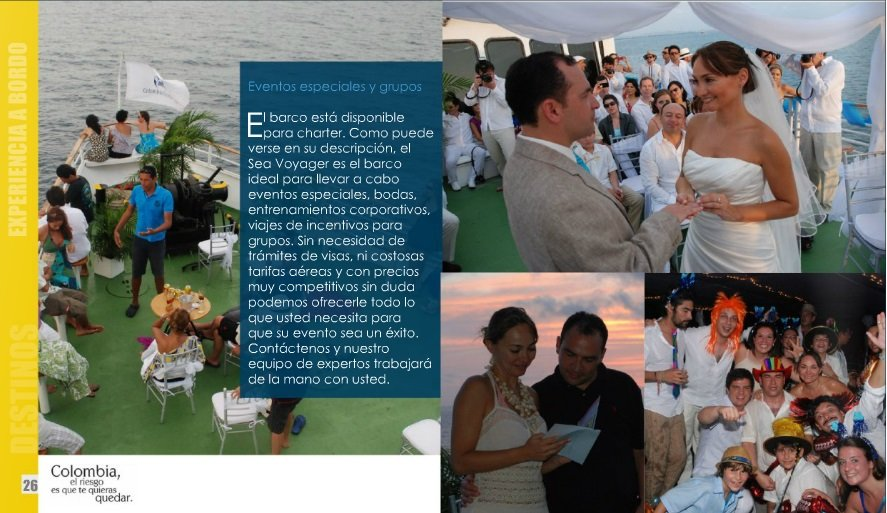 charter de barco crucero para eventos