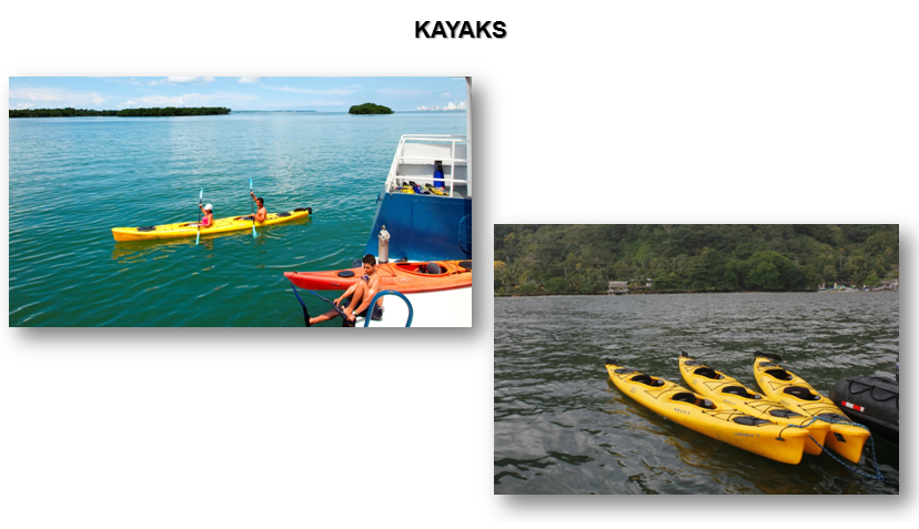 kayaks en crucero colombia caribe pacifico