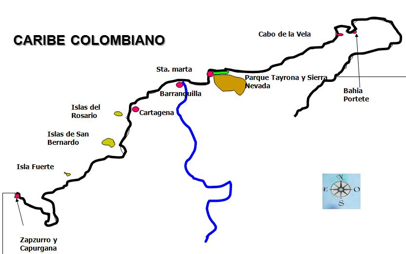 ruta crucero caribe colombiano