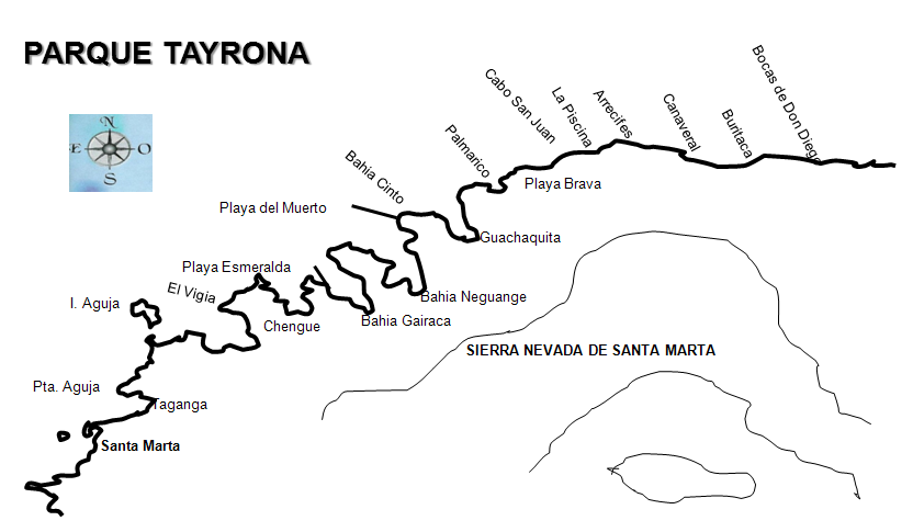 ruta crucero parque tayrona